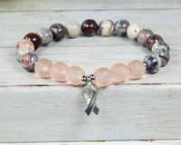 pink breast cancer awareness bracelet for her