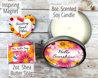 candle and soap gift basket for brighten your day