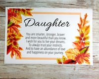 fall themed card for daughter