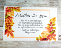 mother in law fall birthday card