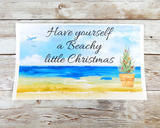 beach themed christmas card