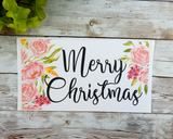 pink flower christmas card