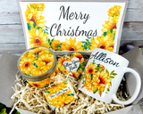 christmas gift basket sunflower theme