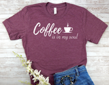 coffee lover t-shirt- maroon t-shirt for women