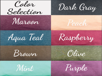 t-shirt color choices for hippie gift box
