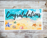 beach theme congrats card