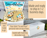 beach themed congrats gift basket to send