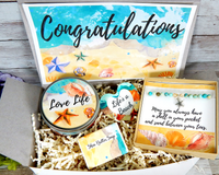 congratulations gift basket for beach lover