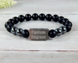 Products Mens Engraved Black Beaded Bracelet - Personalized Jewelry for Men  Duplicate  Preview  Promote  More actions Title Mens Engraved Black Beaded Bracelet Personalized Jewelry for Men