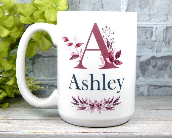 letter mug custom name mug with initial