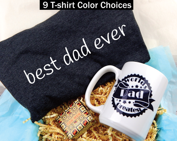 Dad Gift Box - Gift Basket For Dad - Shirt and Mug Gift Box For Fathers Day