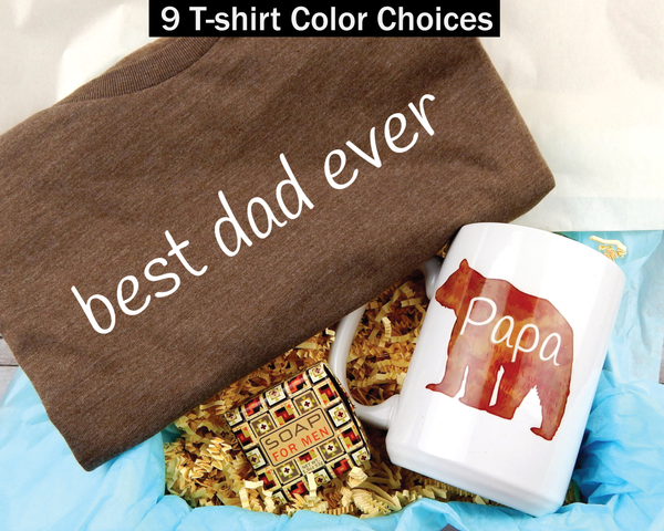 Best Dad Ever Gift Basket - Shirt and Mug Gift Box For Dad