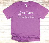 purple dad shirt dad life is the best life t-shirt birthday fathers day