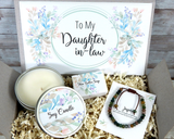 daughter in law gift basket with bracelet