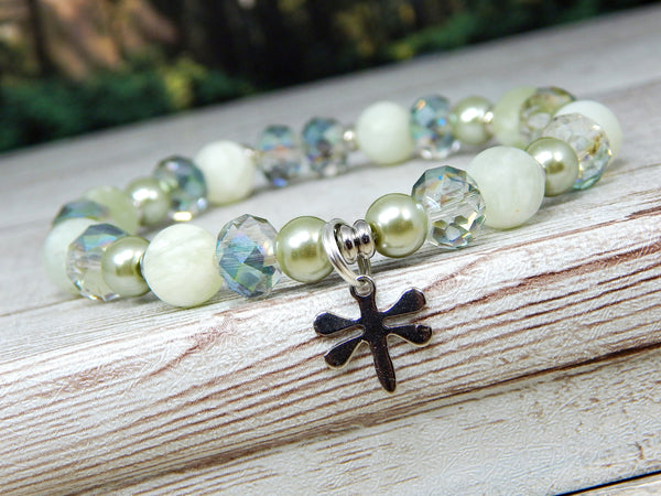 dragonfly jewelry jade gemstone bracelet