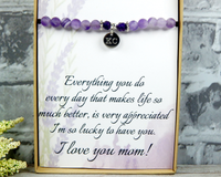 thank you gift for mom engraved bracelet with card