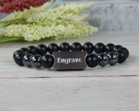 personalized mens bracelets - engraved jewelry
