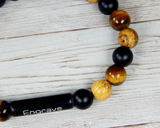 mens beaded bracelet tiger eye onyx jasper