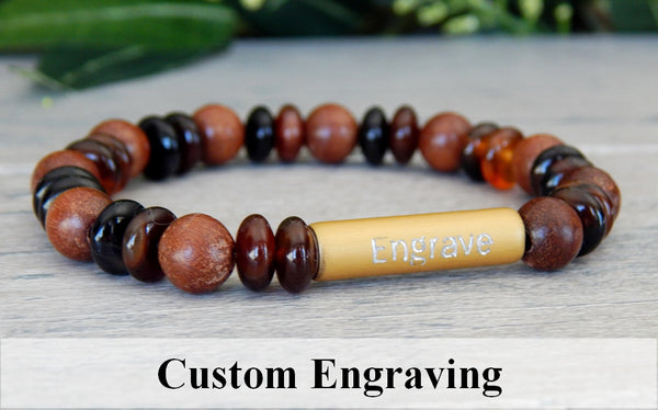 engraved jewelry agate bracelet personalized gift