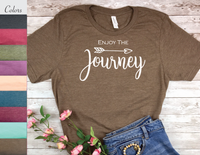 enjoy the journey t-shirt for women