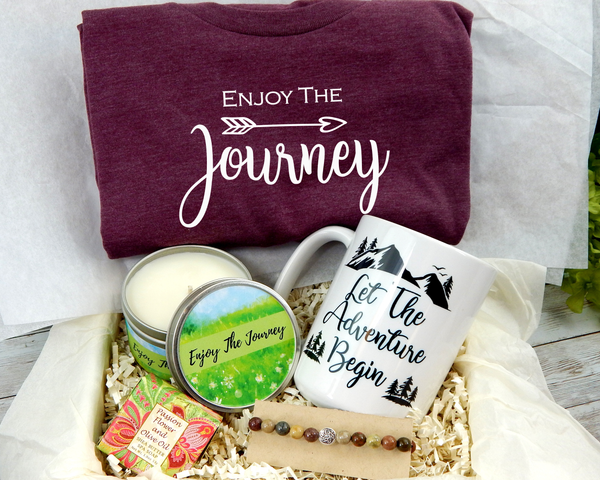 Enjoy The Journey Gift Box - Inspirational Gift Baskets - Gifts for New Journeys