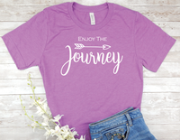 purple enjoy the journey t-shirt for women