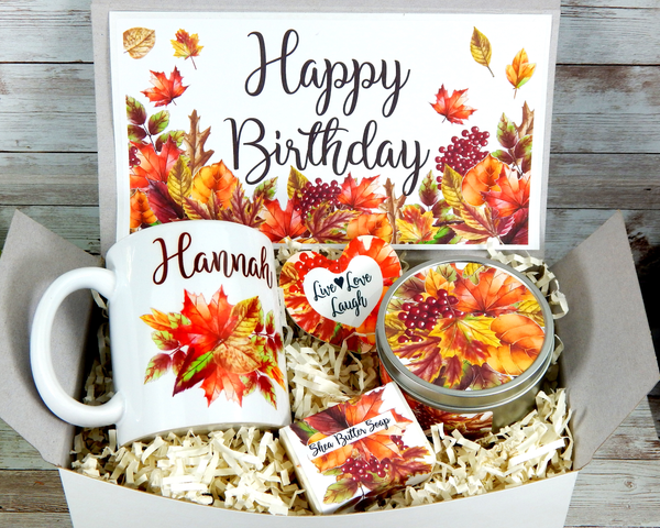 fall birthday gift basket