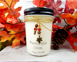 pumpkin scented fall candle