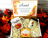 aunt gift basket for fall birthday