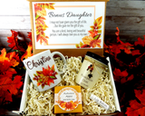 step daughter birthday gift basket for fall