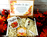 mother in law fall gift basket birthday