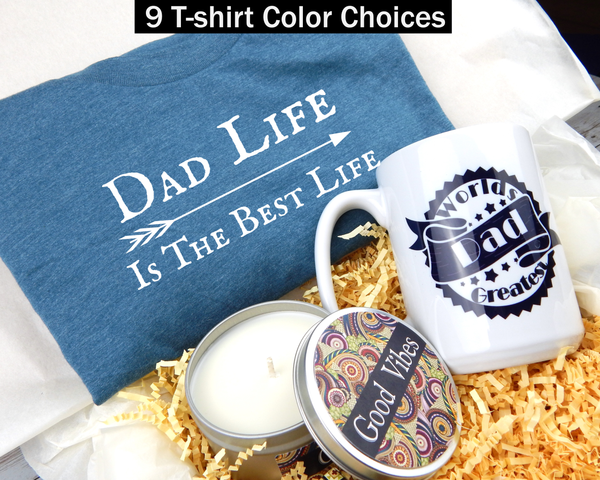 Gift Box For Dad - Worlds Greatest Dad Gift Basket - Fathers Day Gifts