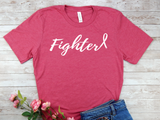 breast cancer survivor fighter pink shirt for women