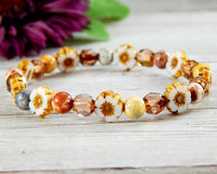 flower bracelets for women nature themed jewelry