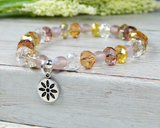 flower jewelry crystal bracelet