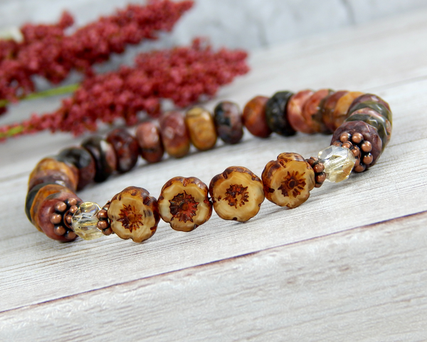 Nature Jewelry for Women - Flower Bracelet - Gift for Nature Lover
