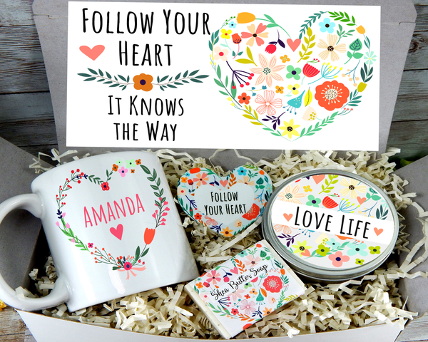 encouragement follow your heart gift box for women