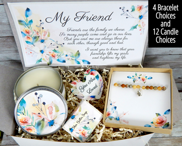 friendship gift basket with meaningful card