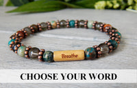 inspiring word message bracelets