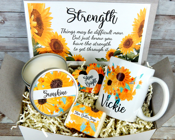 Sunflower Gift Basket for Encouragement and Strength