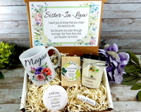 sister-in-law gift basket for her birthday