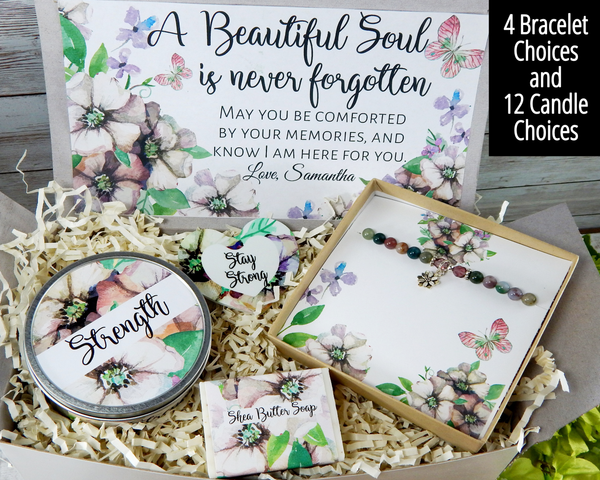 beautiful soul is never forgotten gift basket