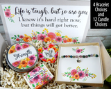 encouragement gift basket for women for hard time in life