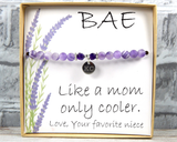 BAE Gift - Best Aunt Ever Jewelry and Card - Like a Mom Only Cooler