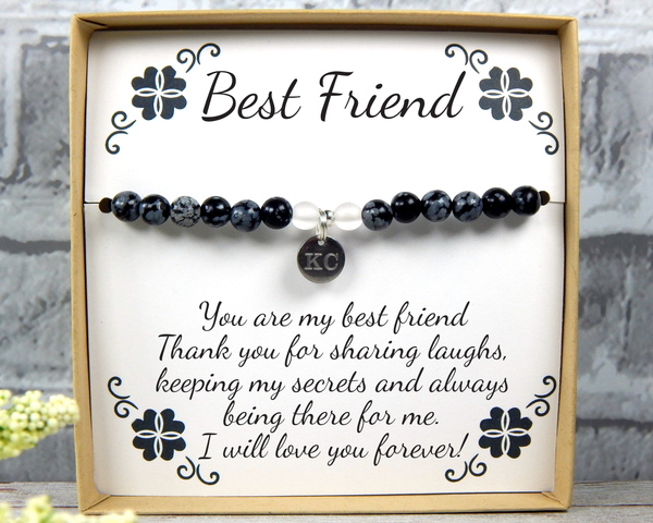 Friendship Bracelet – Best Friends Gift –Personalized Friend Jewelry