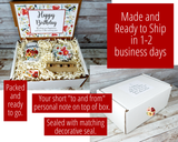 happy birthday gift box delivered red