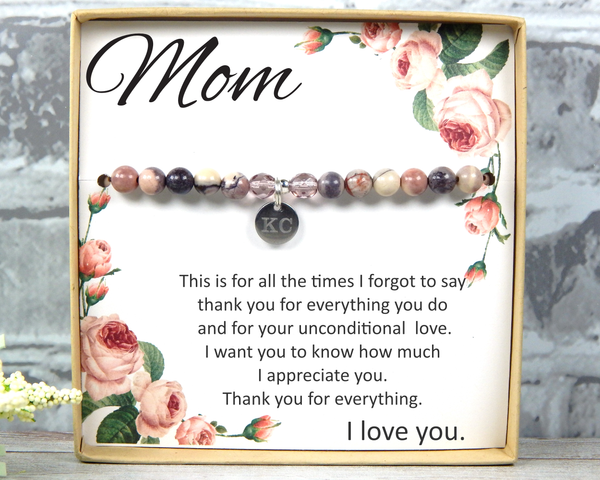 Gift for Mother From Daughter –Birthday Gift for Mom – Mom Bracelet - Meaningful Jewelry for Mom