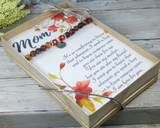 sentimental mom card thank you card for mom with jewelry