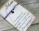 thank you card for mom with inspirational saying