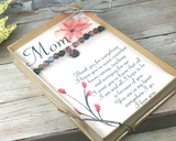 personalized birthday gift for mom thank you card mothers day